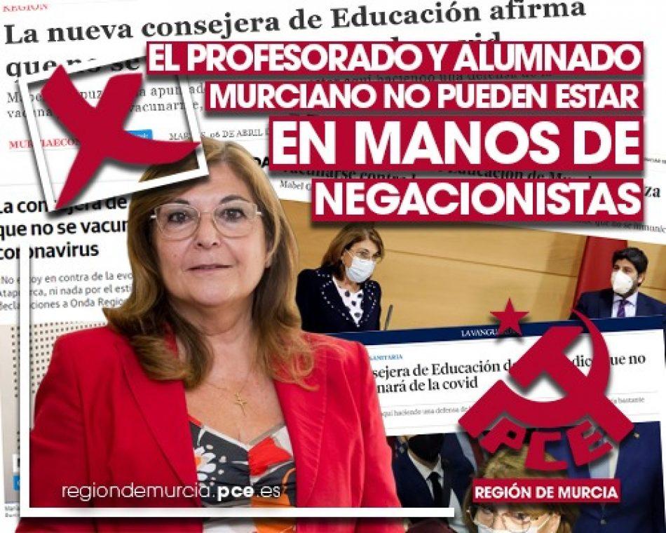 El PCE en la Región de Murcia exige la dimisión inmediata de López Miras