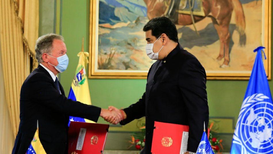 Venezuela sella memorándum de entendimiento con el Programa Mundial de Alimentos (PMA) y ratifica compromiso con Agenda 2030