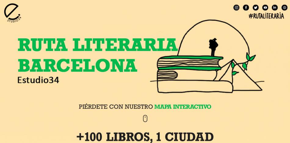 El primer mapa literario de Barcelona recorre más de 900 ubicaciones
