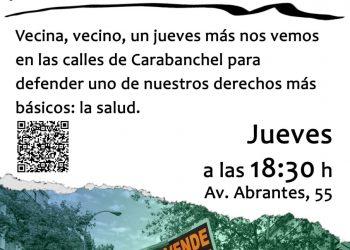 Nueva manifestación en defensa de la sanidad pública en Carabanchel