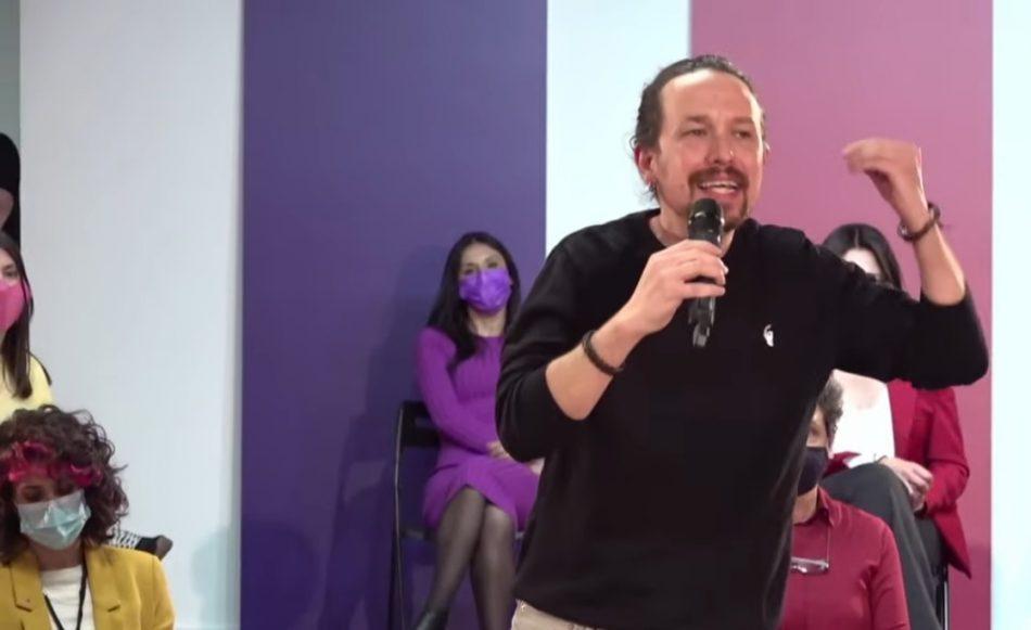 Pablo Iglesias: «Si la movilización en los municipios y en los barrios trabajadores es igual a la de las zonas acomodadas, está hecho: habrá gobierno de izquierdas»