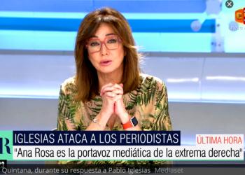Iglesias denuncia que Telecinco continúa difundiendo el bulo de las residencias y Ana Rosa le llama «fascista»