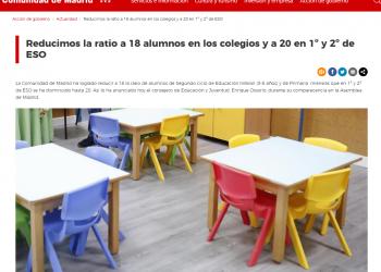 """STEM denuncia aumento de ratios en la educación madrileña: """"no hemos sido engañados"""""""