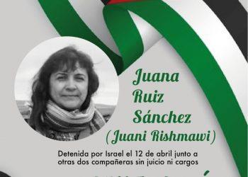 Concentración por la liberación inmediata de Juani Ruíz y sus compañeras, por la libertad de todas las personas presas palestinas