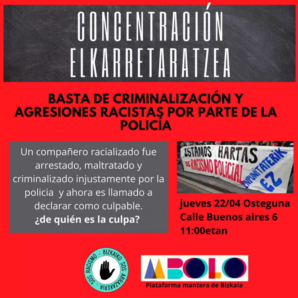 Denuncian nuevo caso de brutalidad policial por parte de la Policía Municipal en el barrio San Francisco, Bilbao