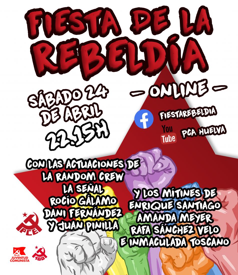 El PCA celebra este sábado su tradicional Fiesta de la Rebeldía en Huelva