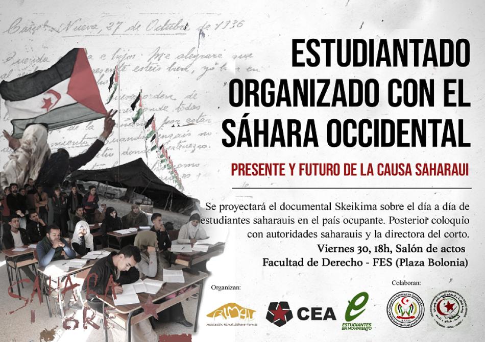 Colectivo Estudiantil Alternativo (CEA) organiza un acto en solidaridad con el Sáhara Occidental