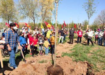 Plantan un árbol en Alcalá de Henares en recuerdo del exiliado político Efraín Pardo Moreno