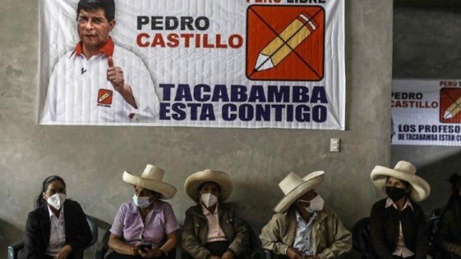 Pedro Castillo supera a Fujimori en intención de voto en Perú