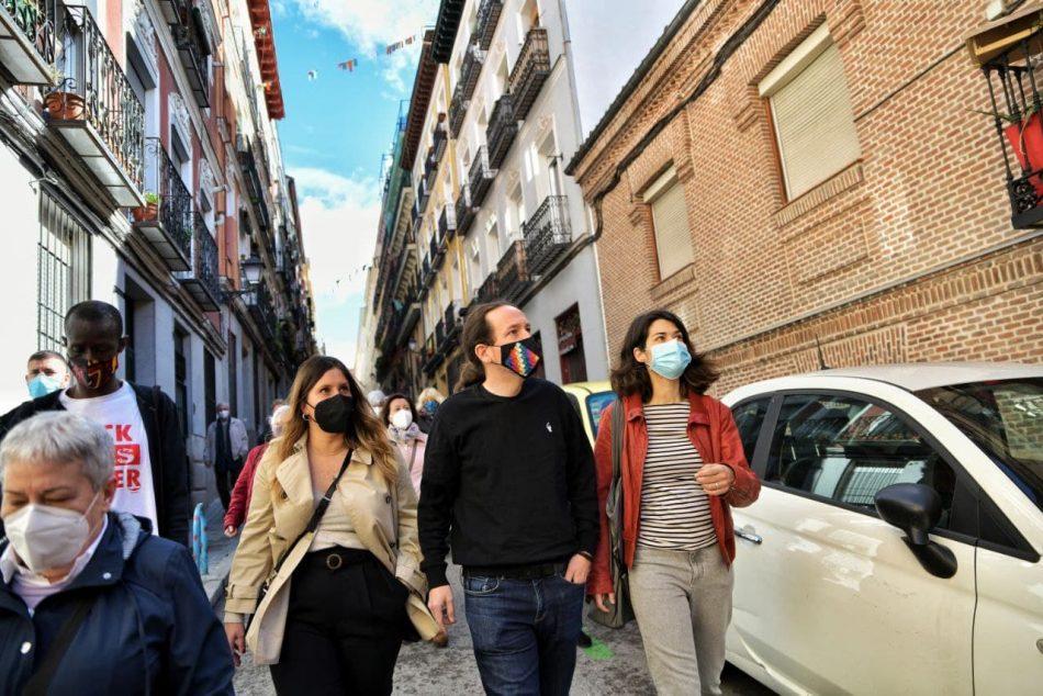 Iglesias: «En estas elecciones nos jugamos la sanidad, la educación y la vivienda»
