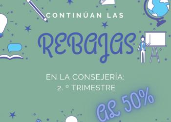«Continúan las rebajas en la Consejería de Educación de la Junta de Andalucía: 2º trimestre al 50%»