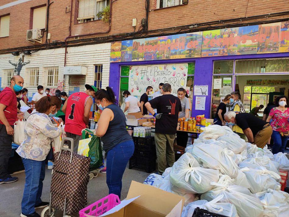 """La Asociación Vecinal de Aluche responde a Aniorte: """"desprecia la ayuda que las despensas vecinales han estado suministrando durante un año a más de 50.000 personas"""""""