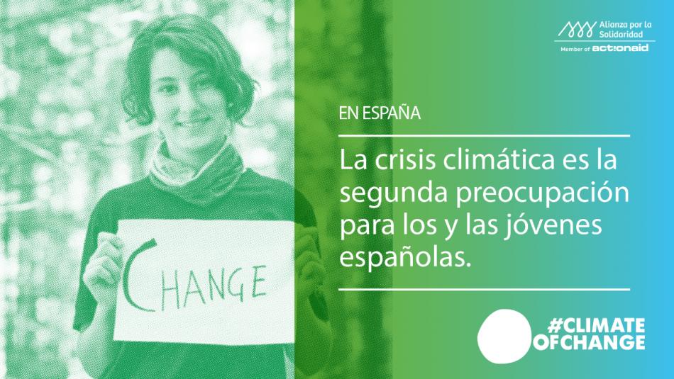 La juventud española sitúa la crisis ecológica como el segundo problema más grave
