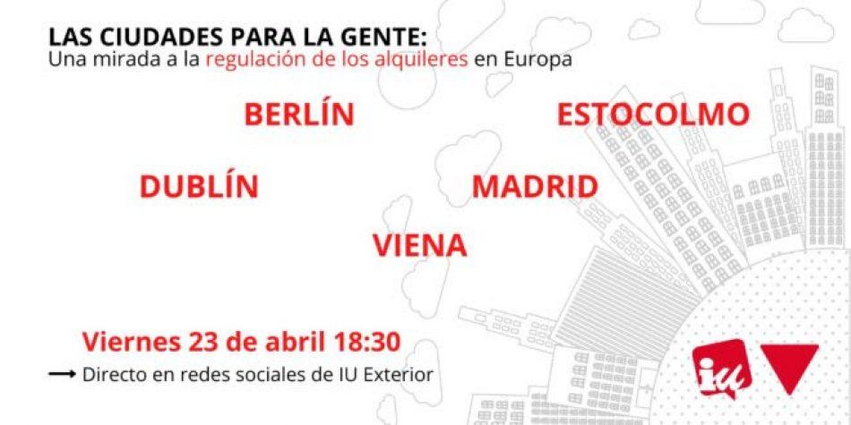'Las ciudades para la gente: Una mirada a la regulación de los alquileres en Europa': coloquio sobre la regulación del alquiler a nivel europeo