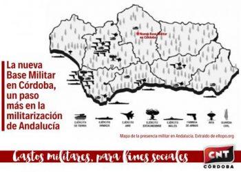 La nueva base logística del Ejército de Tierra en Córdoba. Un nuevo paso en la militarización de Andalucía
