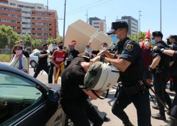 CGT condena la actuación policial en la visita de Felipe VI a la Universitat Jaume I en Castellón