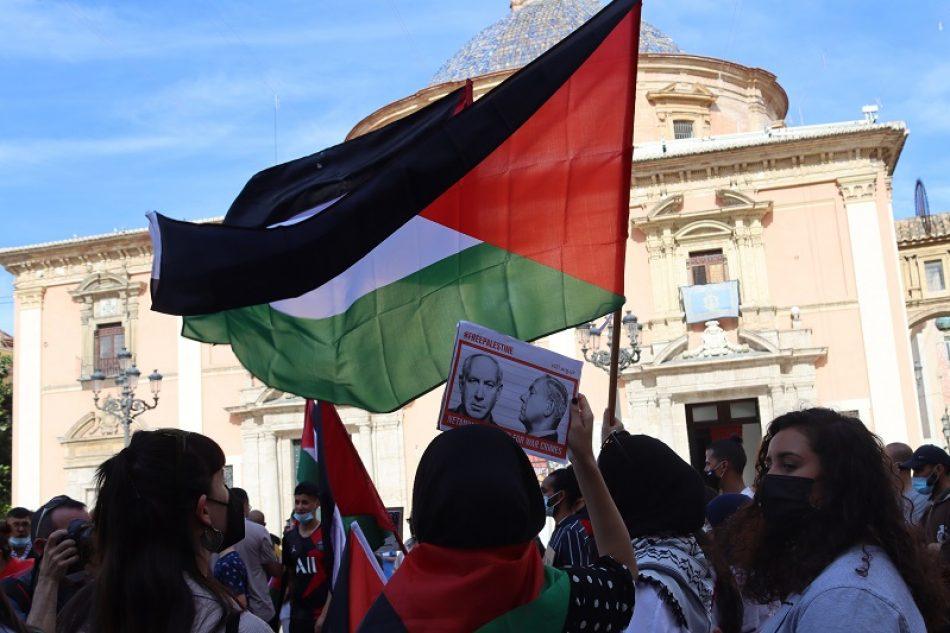 Apoyo al pueblo palestino desde Valencia, España
