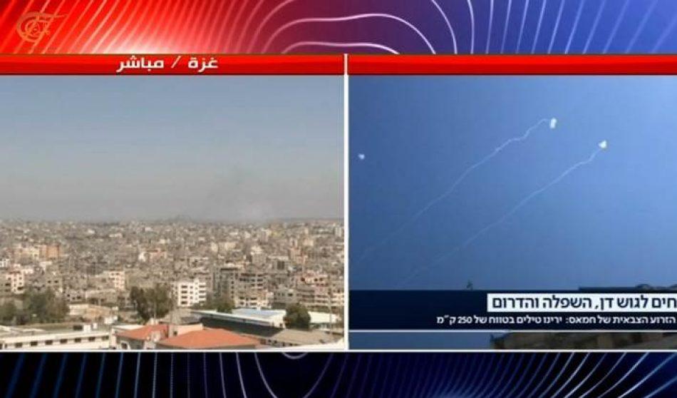 Brigadas Al Qassam bombardea el aeropuerto de Ramon con el misil Ayyash 250