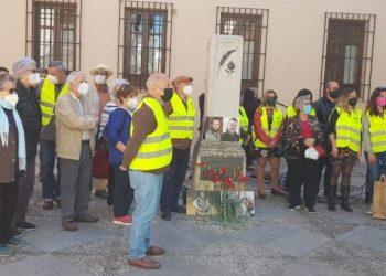 Homenaje del SPA y la FeSP, en Granada, a los reporteros David Beriain y Alberto Fraile