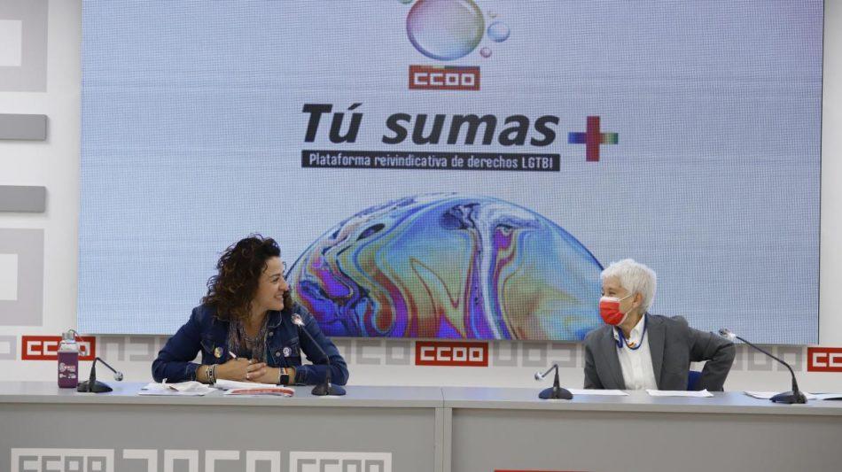 CCOO presenta la Plataforma reivindicativa de derechos LGTBI+