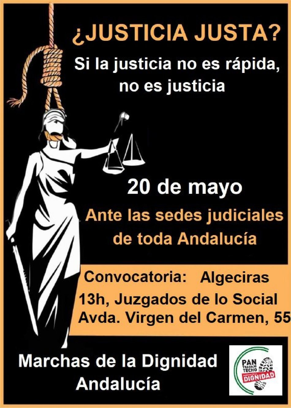 «Al Decanato de los juzgados de Jerez: ¿Justicia justa? Si la justicia no es rápida, no es justicia»