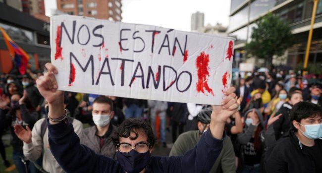 Colombia contabiliza 47 asesinados tras represión contra manifestantes