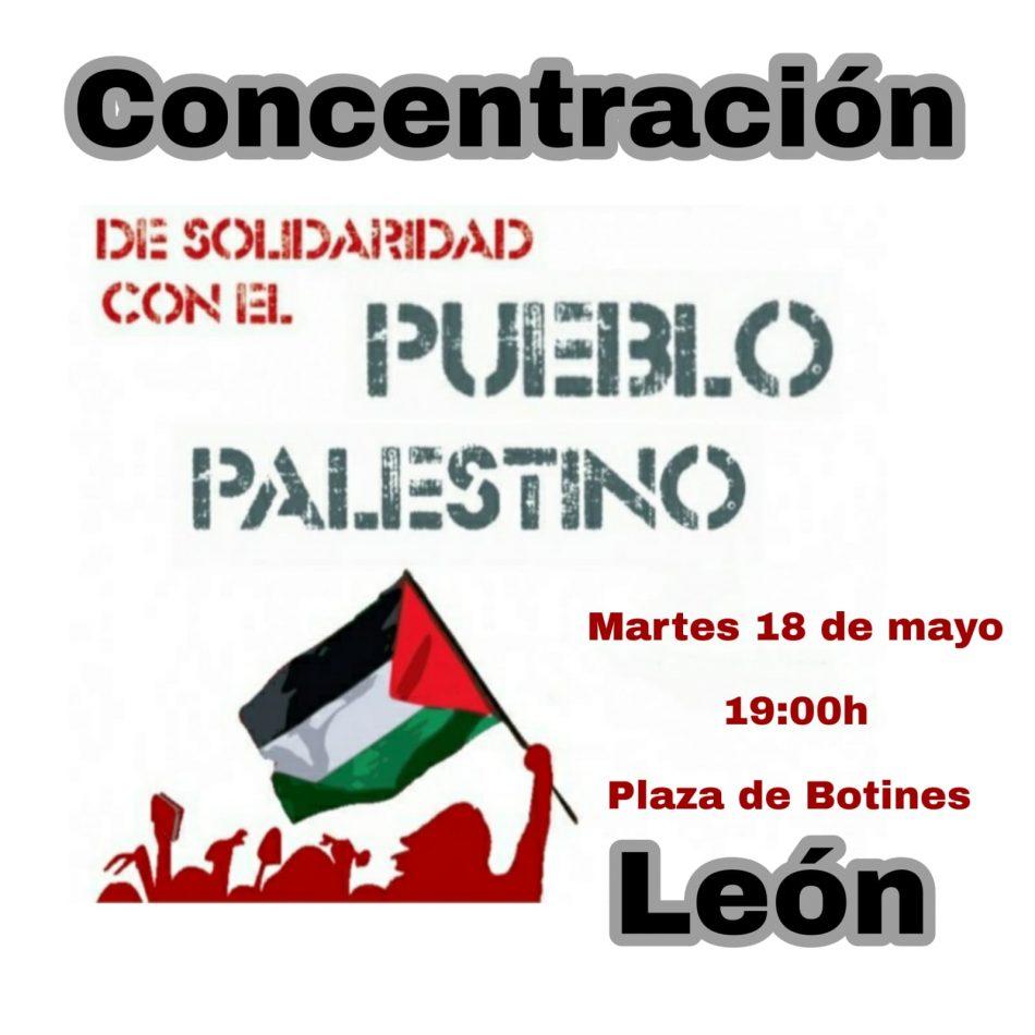 El PCE de León apoya las concentraciones en solidaridad con el pueblo palestino