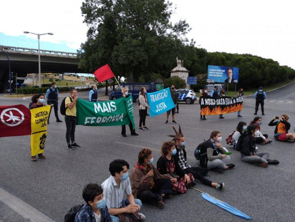 26 personas detenidas en Lisboa en una acción por la Justicia Climática