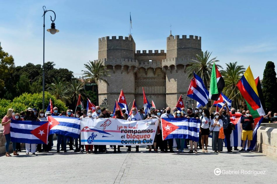 València alza su voz por Cuba y contra el bloqueo de EEUU en apoyo a la votación en la ONU del próximo 23 de junio