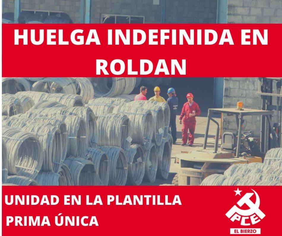 El PCE de El Bierzo apoya y colaborará con la huelga indefinida en Aceros Roldán