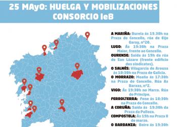 25 de mayo: Huelga y movilizaciones Consorcio IeB