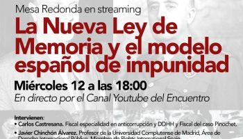 Mesa Redonda en streaming. La Nueva Ley de memoria y el modelo español de impunidad