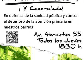 Cacerolada y manifestación por la sanidad pública en Carabanchel