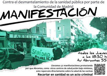 Un nuevo jueves, vecinos de Carabanchel se manifestarán con batucada en defensa del centro de salud de Abrantes