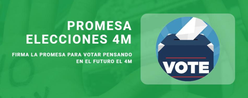 """Fridays For Future Madrid llama al voto este próximo 4 de mayo: """"Prometo votar futuro"""""""
