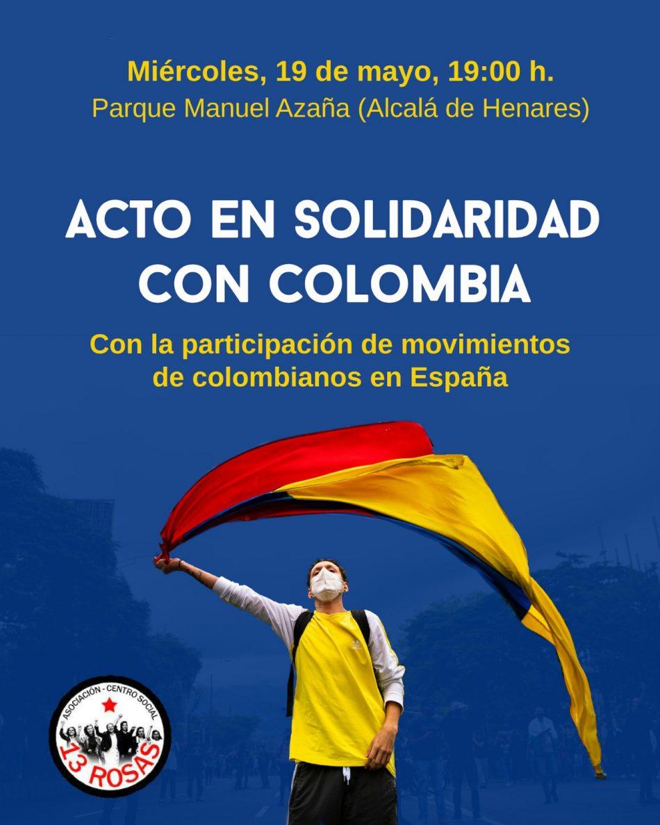 Acto en Solidaridad con Colombia en el Parque Manuel Azaña de Alcalá de Henares