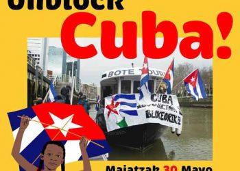 «Unblock Cuba!» en Euskal Herria: campaña llega a 300.000 jeringuillas y barco solidario recorrerá ría de Bilbao, domingo 30 de Mayo