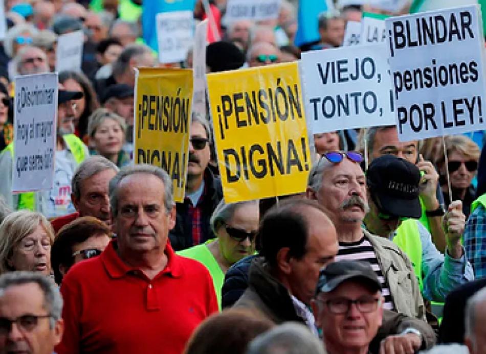 Apoyamos la movilización en defensa de las pensiones públicas del 29 de mayo