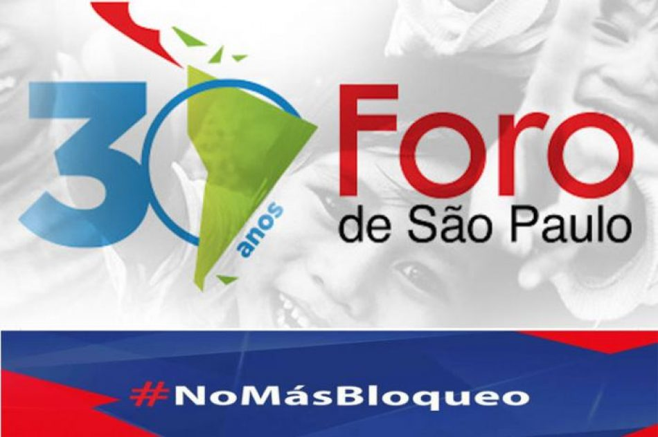 Foro de Sao Paulo inició campaña contra el bloqueo a Cuba