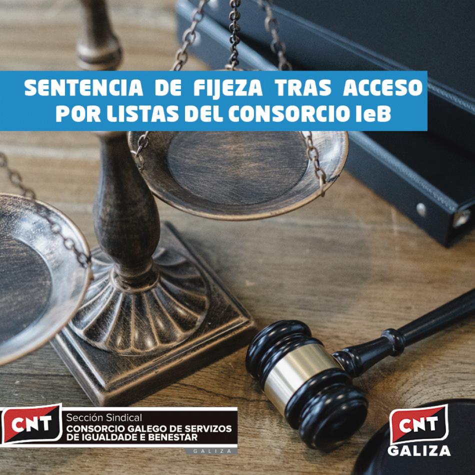 Sentencia de fijeza tras acceso por listas al Consorcio IeB