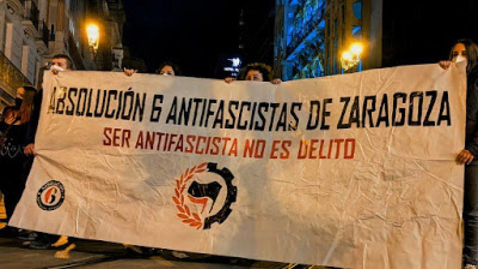 """Coordinadora Antifascista de Zaragoza: """"Queremos la absolución de los 6 antifascistas y que se ponga fin al montaje policial"""""""