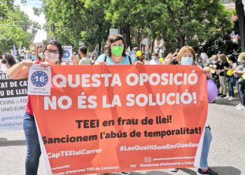 Les Plataformes d'interins de Catalunya juntament amb sindicats afins, participarem en una concentració per reivindicar l'estabilització per al personal públic temporal i interí en abús, Ja!