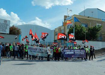 Más de un 70% de seguimiento en la huelga del Grupo Alonso en Quart de Poblet (Valencia)