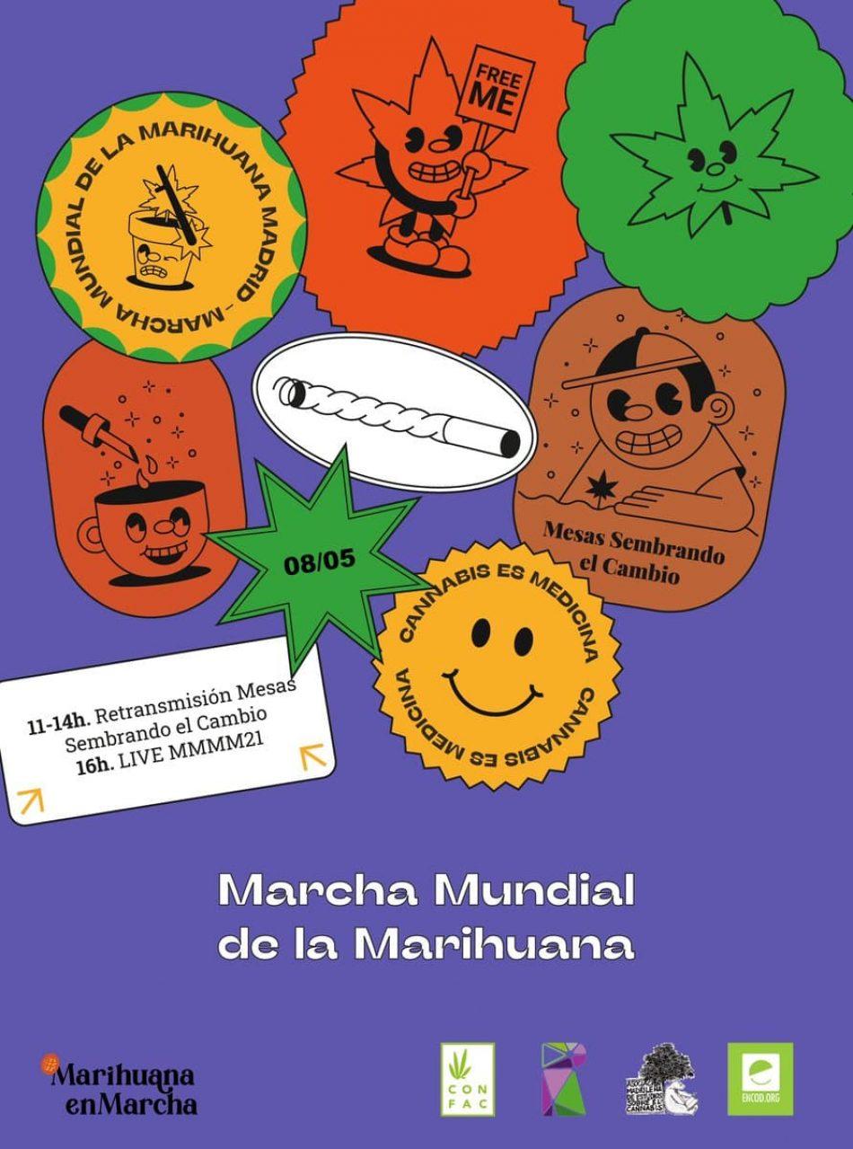 Celebración de la XXVI edición de la Marcha Mundial de la Marihuana en Madrid 2021