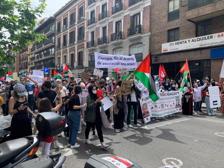 Miles de personas se movilizan en toda Europa para protestar contra la agresión de Israel y conmemorar el 73 aniversario de la Nabka