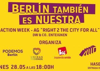 Unidas Podemos Berlín llama a la movilización por el derecho a la vivienda