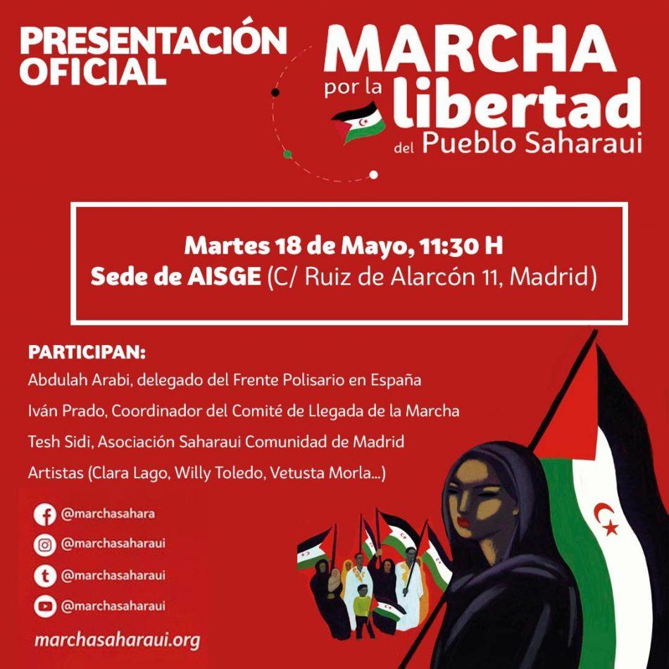 Arranca la Marcha por la Libertad del Pueblo Saharaui en Madrid
