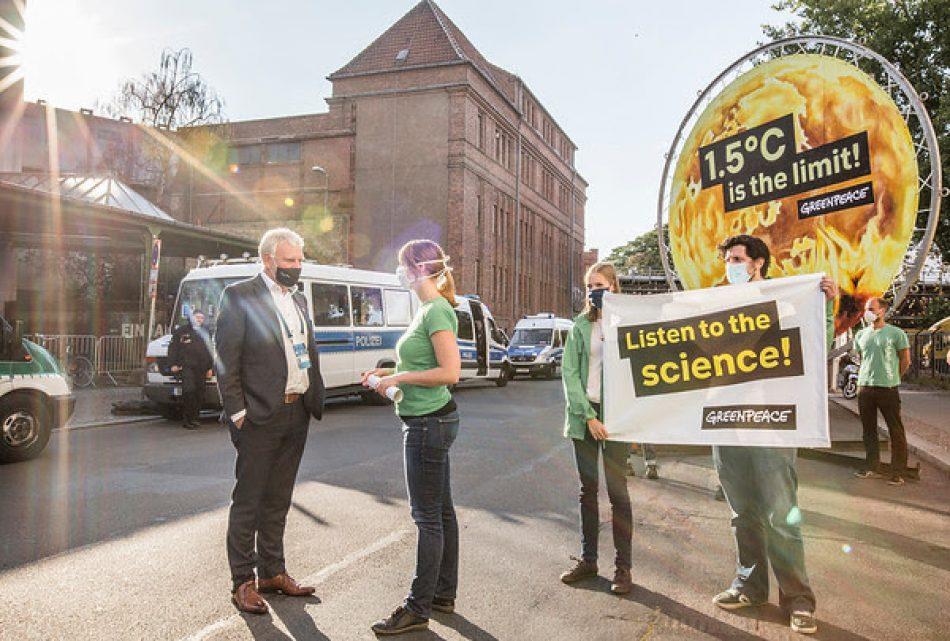 Greenpeace exige al Gobierno español mayor ambición climática tras el adelanto de los planes de descarbonización de Alemania