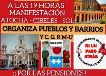 Coordinadora General de Pensionistas: «No a la reforma Escrivá y sindical de CCOO y UGT»