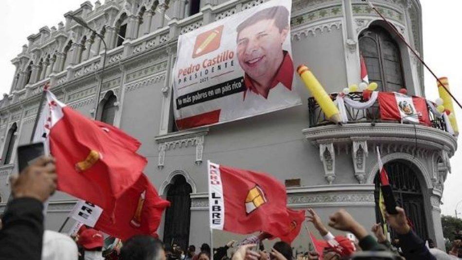 Pedro Castillo lidera conteo de votos en Perú tras más del 96% de actas procesadas
